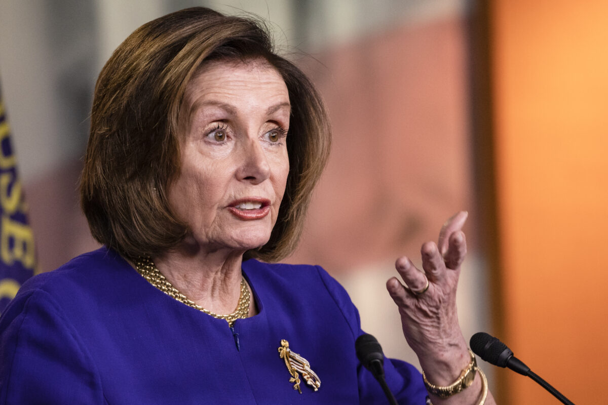 Pelosi signals a disagreement on massive relief package